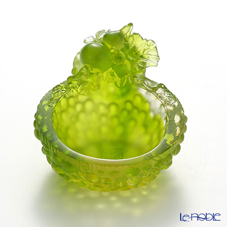 LiuLi GongFang / Paste Crystal Glass 'Lucky Eight - Gourd of Luck' PDF025 Bowl 8cm
