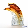 LiuLi GongFang / Paste Crystal Glass 'A Demonstration of Might / Eagle' Amber White PEA071 Animal Object H24cm