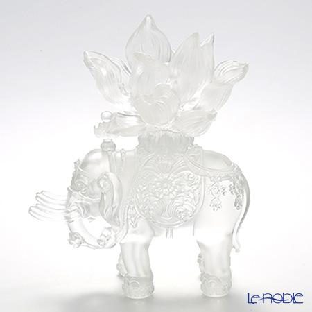 琉璃工房 LIULI GONGFANG オブジェ 六牙の白象 福象大吉祥 PEH186.ADA