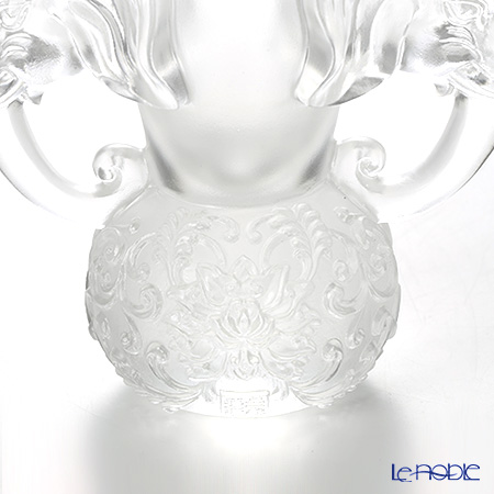 LiuLi GongFang / Paste Crystal Glass 'Elephant (Glory) / Full of Prosperity and Honor Around' PDE012 Object Vase H11.5cm
