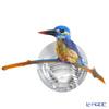 琉璃工房 LIULI GONGFANG オブジェ カワセミ相信 就能看見 翠鳥 PRF003.ADAEE