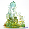 LiuLi GongFang / Paste Crystal Glass 'Together, Up To The Sky / Zodiac Monkey with Peach - Longevity' PEH206 Animal Figurine Object