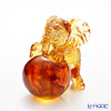 LiuLi GongFang / Paste Crystal Glass 'My Great Ambitions / Elephant' Amber PAH014 Animal Figurine H10.5cm