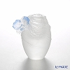 LiuLi GongFang / Paste Crystal Glass 'A Fresh and Wonderful Blessing - Butterfly Orchid' PRG004 Flower Object H13cm