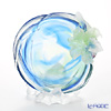 LiuLi GongFang / Paste Crystal Glass 'Flower of the Month / Lily - May' PCG011 Flower Plate Object with stand