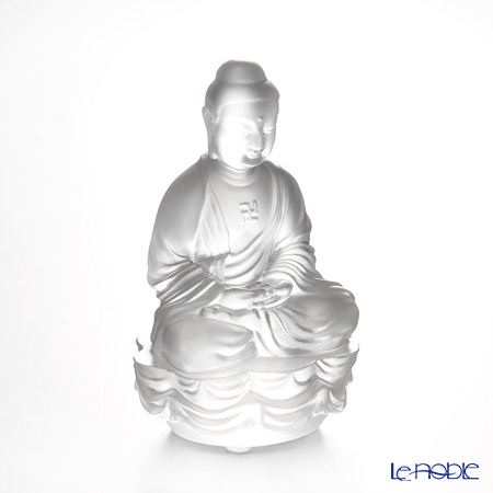 Liuli GongFang / Paste Crystal Glass 'Sakyamuni Buddha / Guardians of Peace' PED210 Figurine H10cm