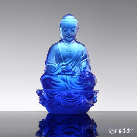 "[Back Order] Liuli Gongfang Buddha Figurine (Accompanied by Peace and Joy) Blue ""Medicine Buddha"" PED209. ADAAJ"