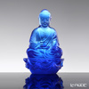 [Back Order] Liuli Gongfang Buddha Figurine (Accompanied by Peace and Joy) Blue