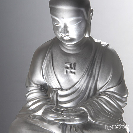 LiuLi GongFang / Paste Crystal Glass 'Guardians of Peace / Buddha - Amitabha, Shakyamuni, Medicine' PED221 Figurine