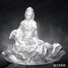 [Back Order] Liuli Gongfang Crystal Buddha Figurine (Bodhisattva, Mortal Smile)