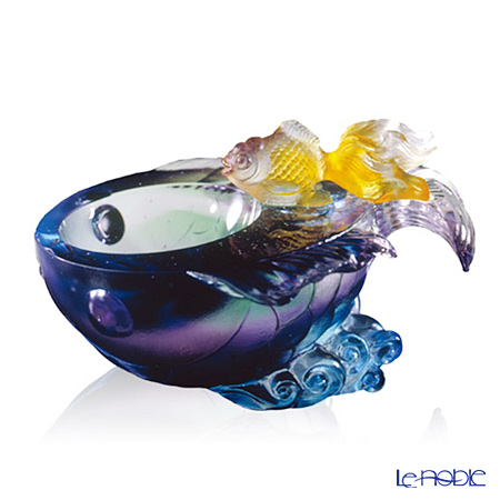 [Back Order] Liuli Gongfang Small bowl - Fish Flow of Luck PEF074. ADAEI