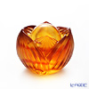 LiuLi GongFang / Paste Crystal Glass 'Super Treasure Chest of Stars' Amber PAB009 Paperweight / Feng Shui Object H7cm