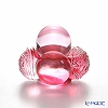 LiuLi GongFang / Paste Crystal Glass 'The Turn of Luck and Fortune' Pink VGO088P Paperweight / Feng Shui Object H6.5cm