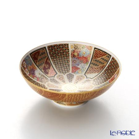 Kyoto Satsuma plate (KUNYO style) Ten thousand flower decor (Traditional Handicraft)