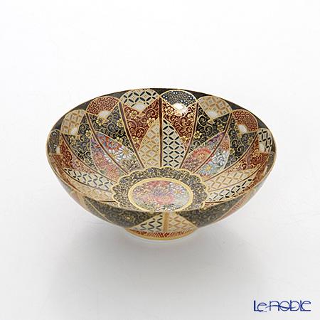 現代の京薩摩 鉢 扇面 伝統工芸士 小野多美枝氏 -空女-作
