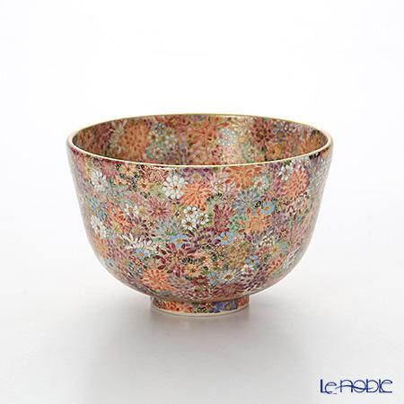 現代の京薩摩 抹茶碗菊詰 伝統工芸士 小野多美枝氏 -空女-作