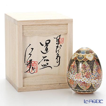 現代の京薩摩 たまご置盃桜うずまき 伝統工芸士 小野多美枝氏 -空女-作