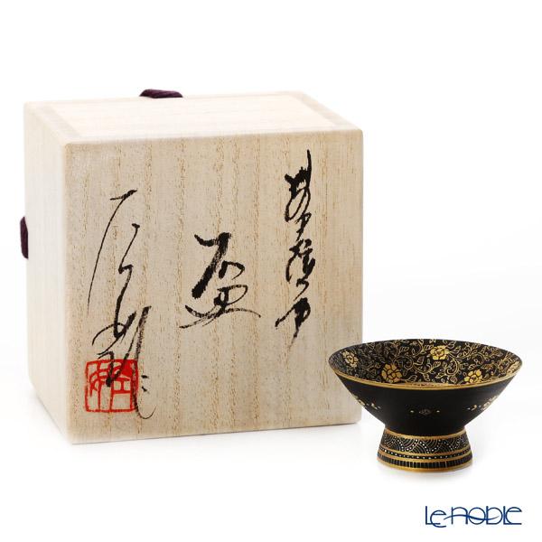 Modern Kyoto Satsuma 'Sansui / Landscape' Black Sake Cup