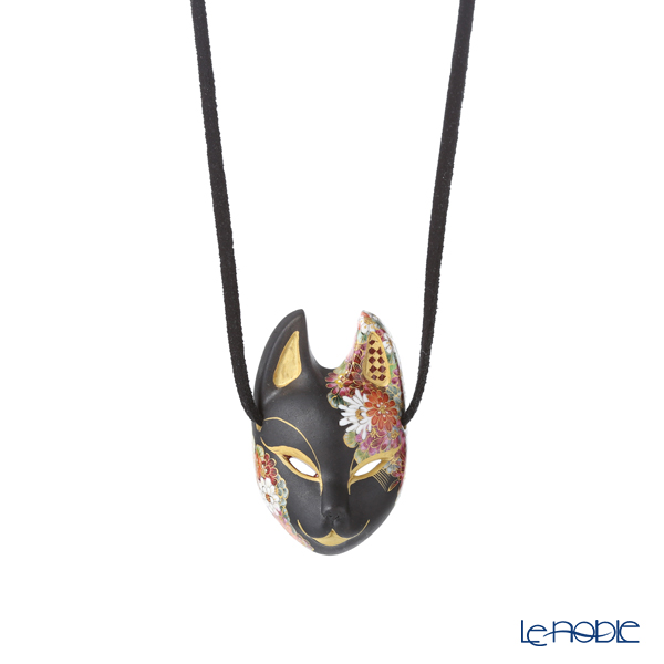 Modern Kyoto Satsuma pendant fox face Traditional craftsman Mr. Tadae Ono-Sky woman-work *pattern and string color of patterns can not be chosen ※