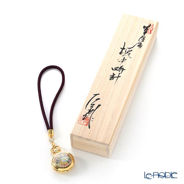 現代の京薩摩 懐中時計 色花伝統工芸士 小野多美枝氏 -空女-作