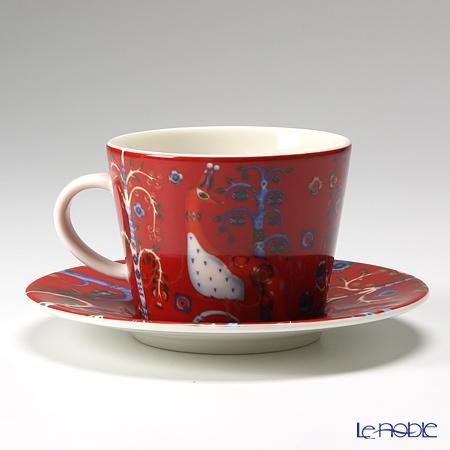 イッタラ(iittala) タイカ レッドコーヒーカップ&ソーサー 200cc