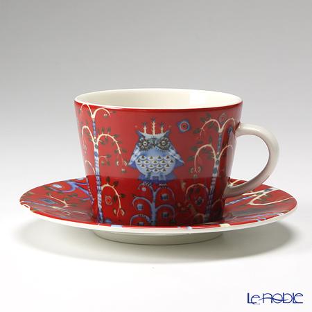 イッタラ(iittala) タイカ レッド コーヒーカップ&ソーサー 200cc