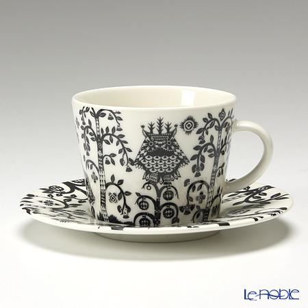 Iittala Taika Coffee/cappucino cup 0,2 l & Saucer 15 cm black