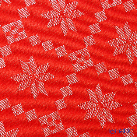 EKELUND place mat 35 x 48 cm Orteblarose 33 red white 100% certified organic cotton
