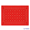 EKELUND place mat 35 x 48 cm Orteblarose 33 red white 100% certified organic cotton