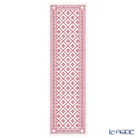 エーケルンド テーブルランナー 35×110cm オーテブラローセ 03 ホワイトレッド 100%オーガニックコットン