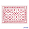 EKELUND place mat 35 x 48 cm Orteblarose 03 white red 100% certified organic cotton