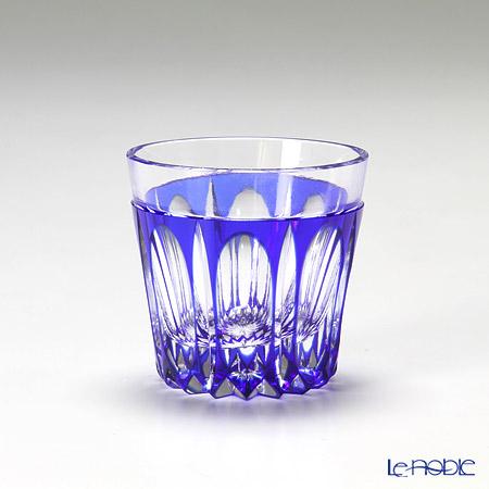 堀口硝子 江戸切子 瑠璃被万華様 切立盃 K5835B
