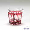 Horiguchi Glass / Edo Kiriko Flashed Glass 'Mangeyou' Bronz-Red K5835P Sake Cup 50ml