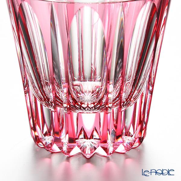 Horiguchi Glass / Edo Kiriko Flashed Glass 'Mangeyou' Bronz-Red H7111GR Rock Glass 200ml
