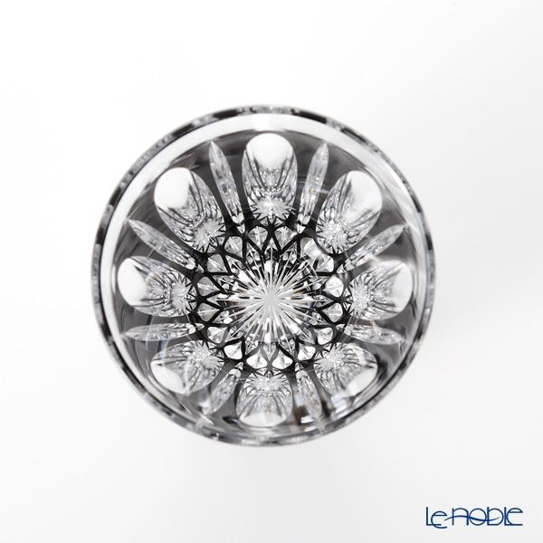 Horiguchi Glass / Edo Kiriko Flashed Glass 'Mangeyou' Black H7111BK Rock Glass 200ml