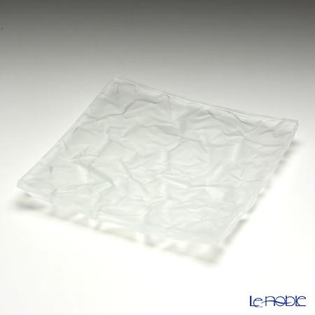小松誠デザイン COMCRUMPLE フロスト プレート(L) 18.5cm