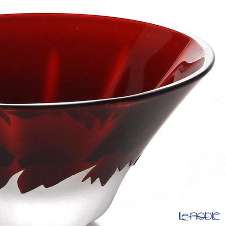 【伝統工芸】田島硝子 富士山祝盃青赤富士セット ペア TG13-013-2 木箱入
