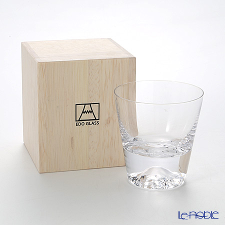 Tajima Glass 'Mt. Fuji Glass' TG15-015-R Rock Glass 270ml TG15-015-T【传统工艺】田岛玻璃 '富士山' 威士忌杯