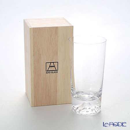 Tajima Glass 'Mt. Fuji Glass' TG15-015-T Tumbler 400ml TG15-015-T【传统工艺】田岛玻璃 '富士' 玻璃杯