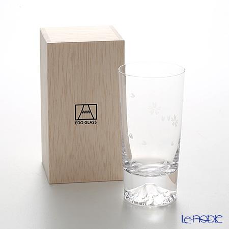 【伝統工芸】田島硝子 富士山グラス タンブラー 400ml 桜切子 TG16-015-TS 【田嶌】【Fujiグラス】