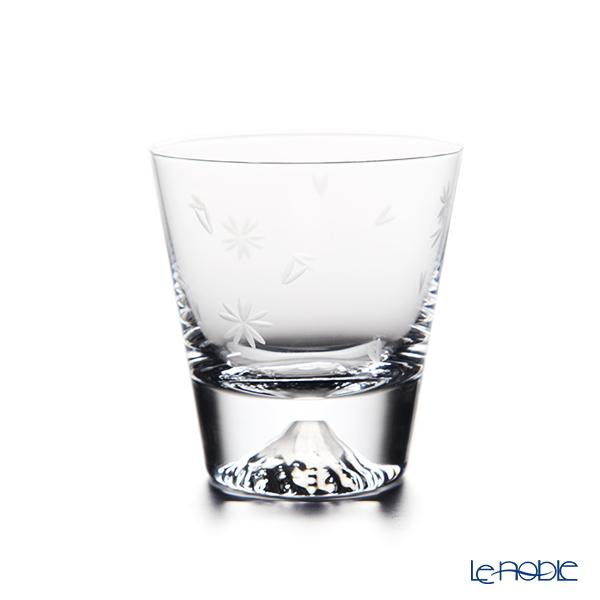 Tajima Glass 'Mt. Fuji Glass - Sakura Kiriko' Mini Rock Glass (with Cherry Blossom pattern Furoshiki) TG20-015-MRS 【传统工艺】田岛玻璃 '富士山 - 樱花切子' 小威士忌杯 (樱花风吕敷包装)