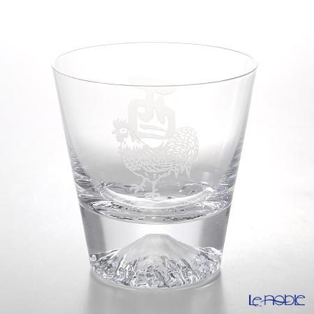 【伝統工芸】田島硝子 富士山グラスロックグラス 干支 2017年酉 桜風呂敷包み【田嶌】【Fujiグラス】