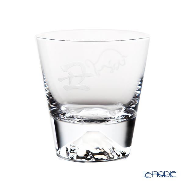 Tajima Glass 'Mt. Fuji Glass - Zodiac Ox' Rock Glass 270ml (with Cow pattern Froshiki) TG15-015-T 【传统工艺】田岛玻璃 '富士山 - 干支 2021年 丑' 威士忌杯 (牛风吕敷包装)