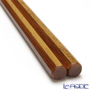 Takano Chikko / Bamboo Craft 'Hakkaku - Goma Take (Small Spoted)' Thinly Lacquered Chopsticks 24cm