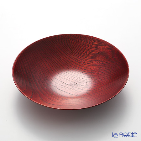 薄挽鉢 朱ふき漆21×4.3cm