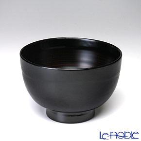 Japanese Lacquerware (Wajima) Black Bowl 11x7.5cm 380cc A-1-1