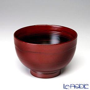 Japanese Lacquerware (Wajima) Red&Black Bowl 11xH7.5cm 380cc A-1-3