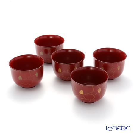 Japanese Laqeur ware (Wajima) Align the Camellia Bowl 5