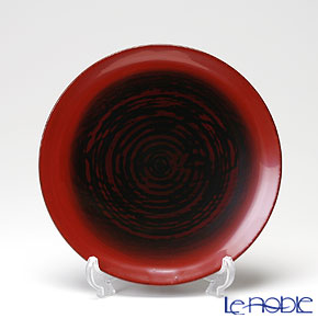 Japanese Lacquerware (Wajima) Red Plate with foot 6.5x3cm