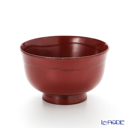 Japanese Laqeurware (Wajima) Soup Cup, Red A-2-1